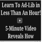 How to ad-lib like pro overnight